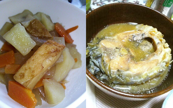 「煮こじ」と「鯉こく」。ともに佐久地方を代表する郷土料理です。
