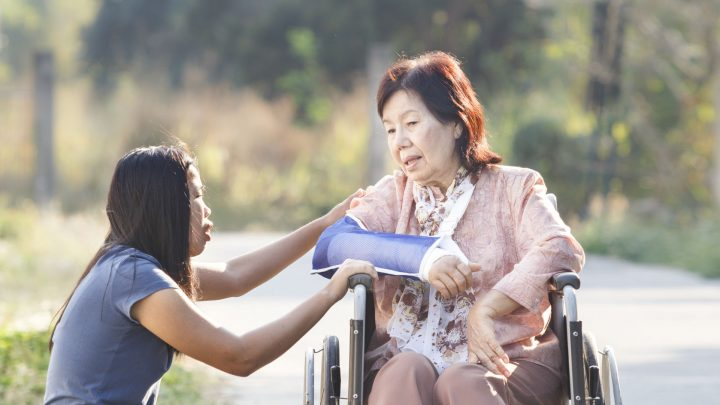 26513962 - young asian is taking care the senior woman ,thailand